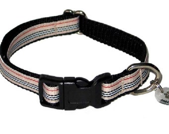 "Striped Small Dog Collar - Furberry 1/2"" Tiny Dog Collar Stripes"