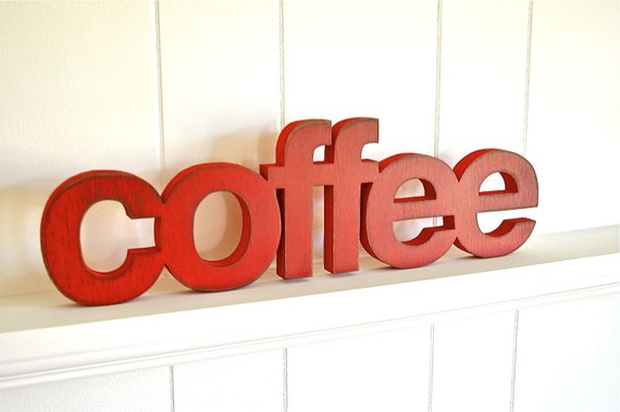 COFFEE - Handmade Wood Sign, for Home, Kitchen, Restaurant, Cafe, Wedding, Birthday, Gift,  Primitive, Rustic, Shabby Chic