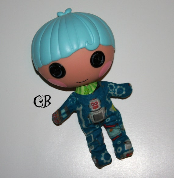 Robot Footie Pajamas for Lalaloopsy LIttles Dolls // Ready to Ship