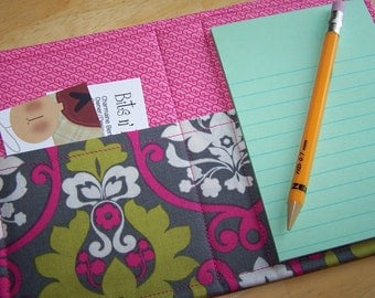 Mini List Taker, Organizer, Coupon Holder, Ecograda Lattice, Notepad And Pen/Pencil Included