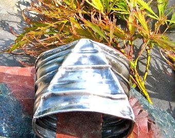 OOAK Fold Formed Fine Silver Cuff