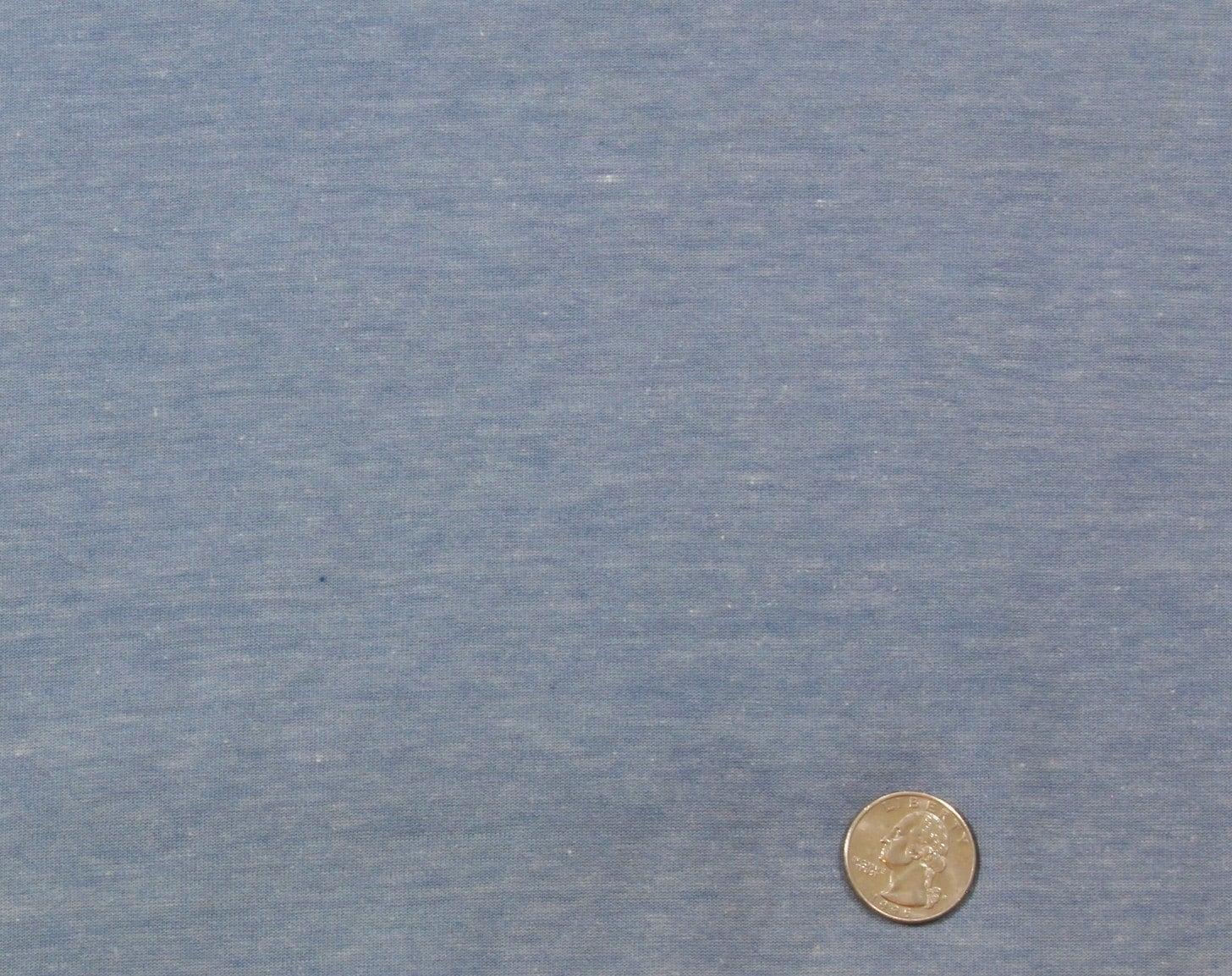 Vintage 100 Cotton T Shirt Knit Fabric Light Blue Denim Color