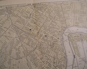 1903 City Map New Orleans Louisiana - Vintage Antique Map Great for Framing 100 Years Old