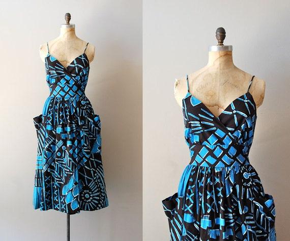1980s dress / 80s cotton sundress / Bric-a-Batik