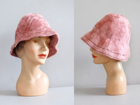 SALE Carnation Cloche hat • mod 1960s hat • vintage 60s cloche