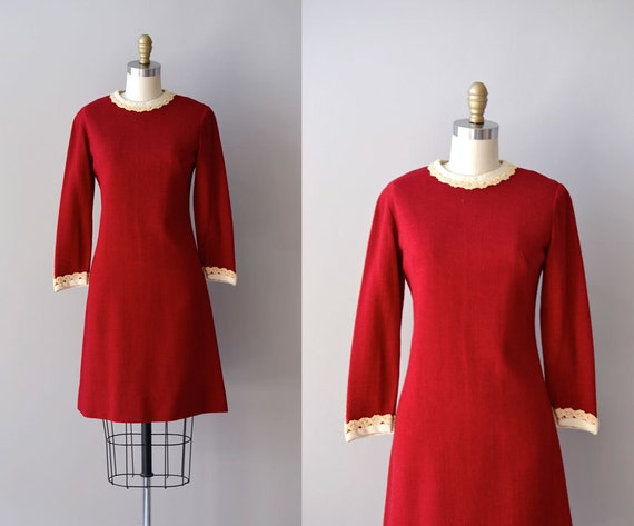 1960s dress / red 60s dress / Twelve Days dress