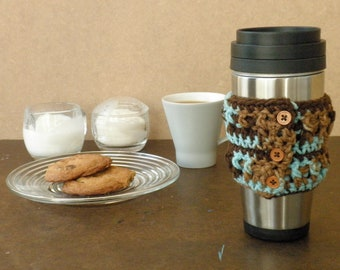 Earth & Sky Buttoned Coffee Cuff