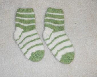 Kids Wool Socks, Hand Knit Socks, Childrens Socks