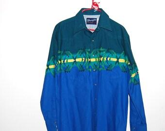 Vintage Shirt Western Wrangler