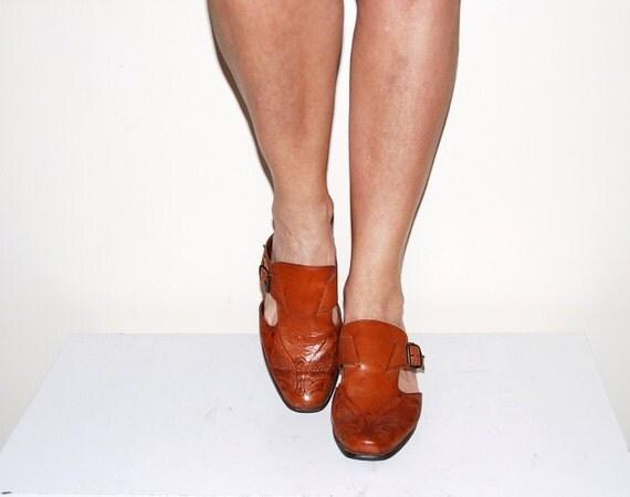Vintage Shoe Western Mule