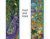 "Mermayde Bookmark - 2"" X 8"" - Pen and Ink - Laminated"