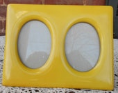 Limoges Yellow Enamel Frame / Yellow Frame / Double Frame / Yellow Double Frame / Limoges Frame / Limoges / French Frame