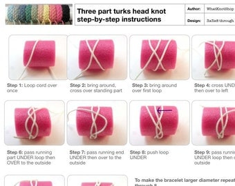 rope bracelet instructions 3 part sailor bracelet turks head knot illustrated