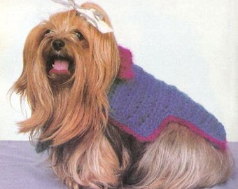 Vintage Crochet Dog Sweater Patterns - Two