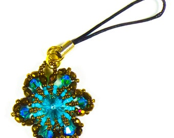 The Perfect Gift - Rivoli Flower Pendant or Cell Phone or Keychain Holder Accessory - Tutorial