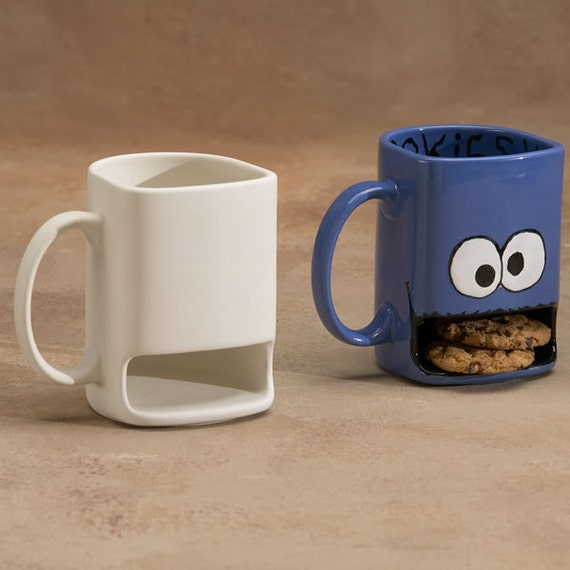 UN PAINTED  Cookie Monster Mug Cup - You paint it - bisque only.  DIY
