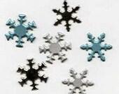 Snowflake Brads - PEARL or Winter Colors Mix - Bulk
