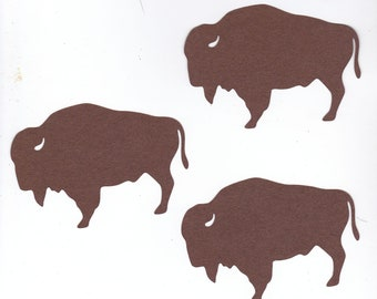 Large Buffalo or Bison Die Cuts