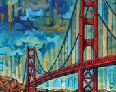Golden Gate Bridge, San Francisco, 5x7 Art Print by Anastasia Mak
