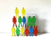 Stackable Clown building blocks - Bill Ding Jr  primary colors set - 14