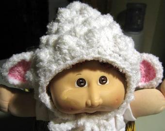 Baby Lamb Hat Soft White Hand Crocheted