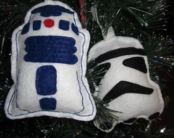 R2D2, Stormtrooper and Darth Vader felt ornaments