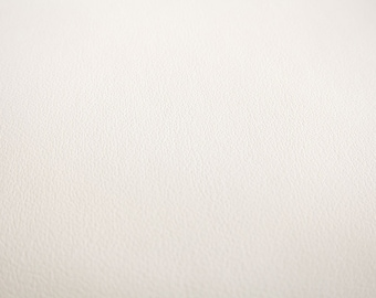 Faux Leather Fabric in Lambskin Pattern - Milk White - Large Fat Quarter