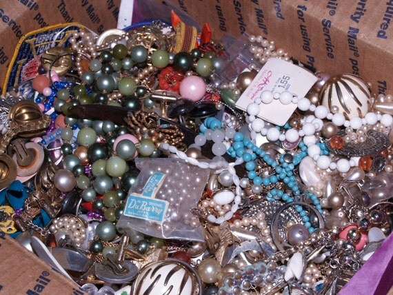 7 Pounds Lot Destash Jewelry Lot Craft Crafting Mixed Media Art Supplies Wearable