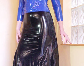 Latex A-Line Skirt, made to order in a variety of colors and sizes