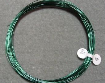 45 Feet 22 gauge Green over Copper Zebra Wire (725)