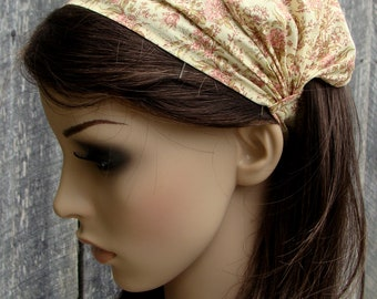 Headcovering Headband Head Covering Pink Floral Women Elastic Bandana Kerchief Adult Bandana Headband Children's Headwrap Bandanna