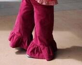 Corduroy Ruffle Pants - many colors