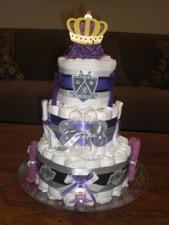 La Kings Diaper Cake Baby Shower Gift Hockey Baby