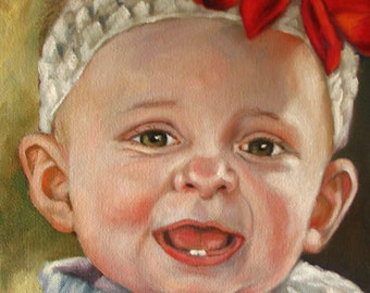 Custom Portrait SALE on 8 x 10  stretched canvas
