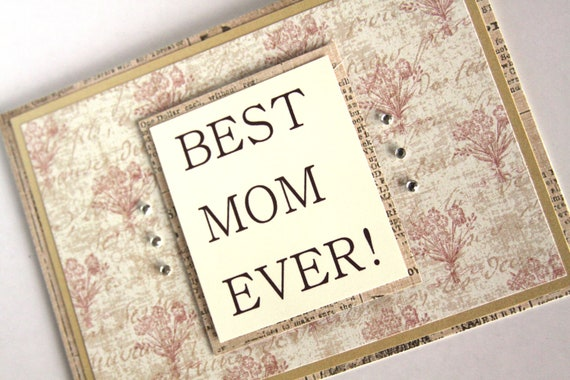 Handmade Card Best Mom Ever Thank You Mom Thank You Card