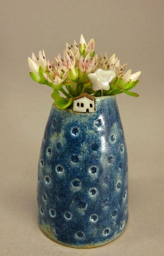 Cloud Inn...Bud Vase / Pen Holder in Stoneware