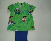 Boys/Girls Size 4 Disney Toy Story -- Scrubs Top and Pants -- Buzz Lightyear and Woody