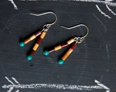 Arizona Earrings - Moukaite and Sterling Silver dangles