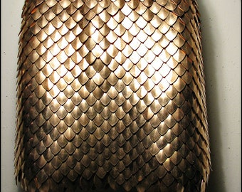 Pure Bronze Scalemail Dragonscale Chainmail Skirt Roman Armor Fantasy Renaissance Cosplay LARP