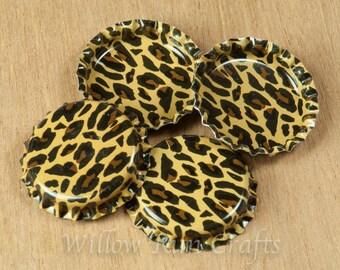 50 Cheetah Bottle Caps  (03-02-250)