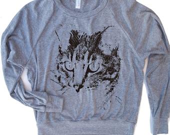Womens CAT  - Tri-Blend Pullover - american apparel S M L (6 Color Options)