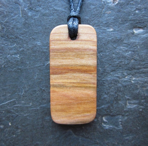 """Natural Wood Pendant - Rowan/Luis - Unique Ogham """"Secret Sigil"""" Design."""