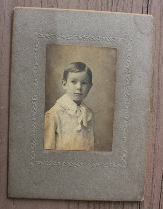 Cabinet card of a very dapper young boy