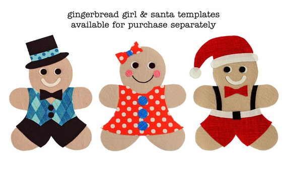 Gingerbread Man Applique Template Make Your Own