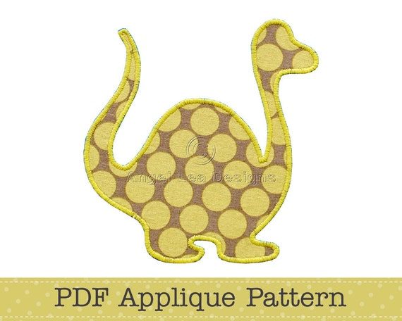 Dinosaur Applique Template, Animal, DIY, Children, PDF Pattern by Angel Lea Designs, Instant Download