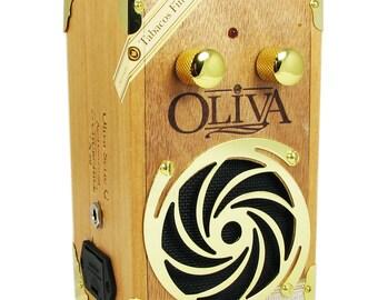 C. B. Gitty Cigar Box Guitar Amplifier: Oliva Serie G - LOUD Little Handmade 9-volt Amp