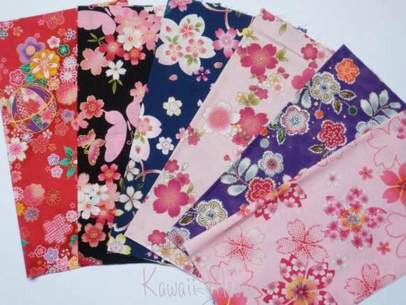 Japanese Fabric - Scraps 6 pieces (488)