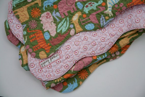 Heirloom Crafted, Modern Design, Spindrift Quilt - Pink Elephants and Friends