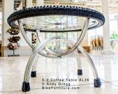 Bike Part (Bicycle Wheels) Coffee Table - S-2 Aluminum MTB