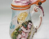 DESTASH SALE - Vintage Capodimonte Porcelain Stein - Price Reduction Was 95 Now 70